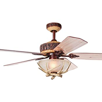 Monte carlo 5gl52wi great lodge 52 ceiling fan weathered iron tropicalfan rustic ceiling fan with 1 light cover indoor home decoration living room antlers silent industrial fans chandelier 5 wood blades 52 inch aloadofball Image collections