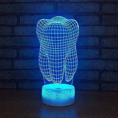 7 TactileLed Dentstouche Lumière Usb 3d Nuit QCxrWEoedB