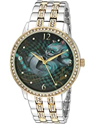 Disney Womens The Cheshire Cat Quartz Metal and Alloy Watch, Color:Two Tone (Model: W003069)