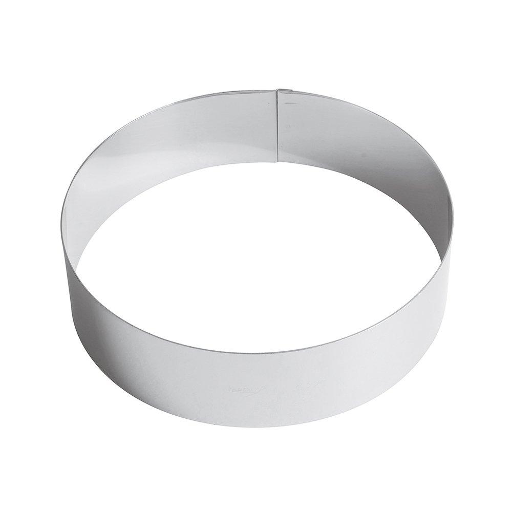 Paderno Anello per Torte//Coppapasta in Acciaio Inox 18//10 Altezza 6 cm Diametro 22 cm