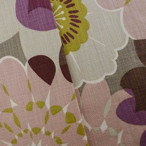 (Designer Cotton Pink/Gray Floral Print Decorating Fabric, Fabric by The Yard)
