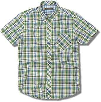 Ben Sherman Check Shirt Brasil Green Camisa de hombre manga corta a cuadros verdes amarillos azules, talla S: Amazon.es: Ropa y accesorios