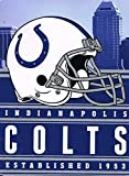 """NFL Football Indianapolis Colts Blanket 60"""" X 80"""" Microfiber Silk Touch Plush Throw Twin Size"""
