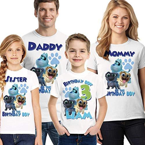 Puppy Dog Pals Birthday Shirt, Boys Puppy Dog Pals birthday shirt