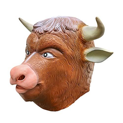 SUNKY Cattle Devil Adult Latex Head Mask Creepy