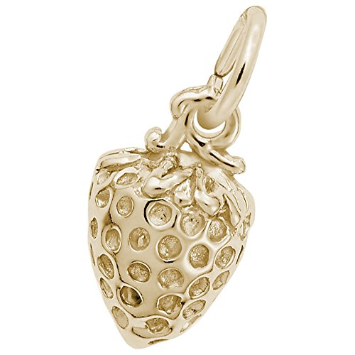 Rembrandt Charms, Strawberry, 14k Yellow Gold