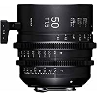 Sigma T1.5 Cine 50mm Full Frame High Speed Prime Lens with PL Mount, 1 Close Focus Distance