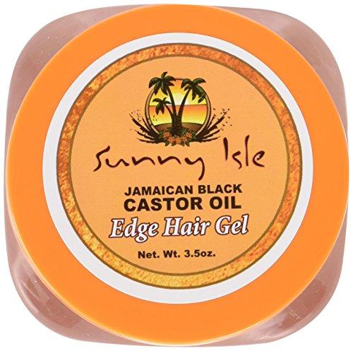 Sunny Isle Jamaican Black Castor Oil Edge Hair Gel, 3.5 Ounce (Sunny Isle Jamaican Black Castor Oil Hair Growth)
