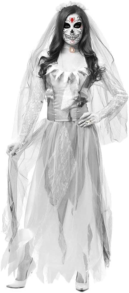 Xyfw Fantasma Novia Disfraz De Zombie Disfraz De Halloween Novia ...