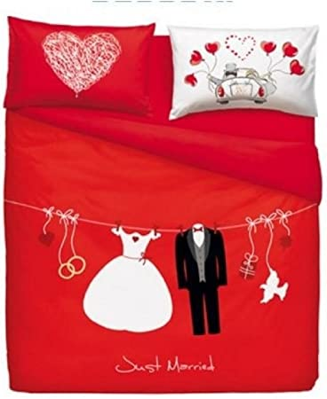 Copripiumino Bassetti Misure.Bassetti Completo Copripiumino Love Is A Couple Matrimoniale M652