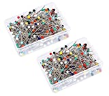Map Tacks Push Pins Plastic Head with Steel Point, 800 Pieces