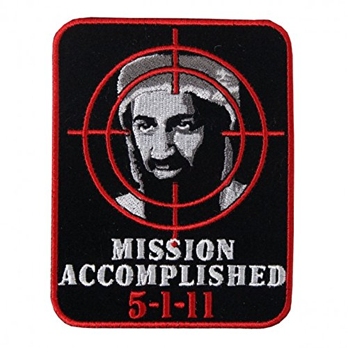 (Hot Leathers, MISSION ACCOMPLISHED, High Thread Embroidered Iron-On / Saw-On Rayon PATCH - 3