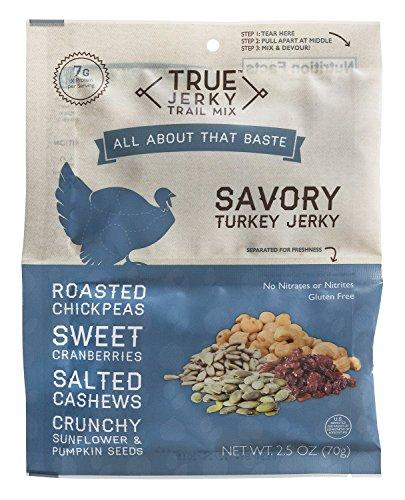 (True Jerky Trail Mix, Savory Turkey Jerky, 2.5 Ounce)