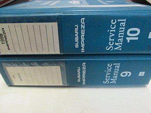 1998 Subaru Impreza Service Manual 2 Volume Set FACTORY OEM BOOKS BINDER ***