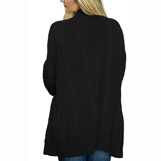 ZORE Mujeres Invierno Abierto Frente sólido Cardigan Bolsillo Chaqueta de Manga Larga suéter Women Sweater: Amazon.es: Ropa y accesorios