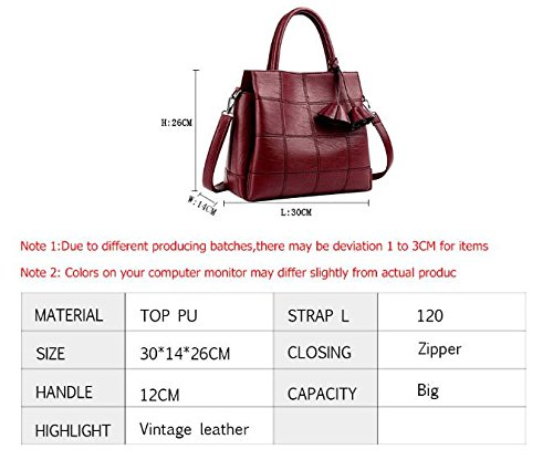 à Mesdames Designer cuir femmes à Les Rose femmes femme grandes bandoulière marques carreaux rouge main en à Gray 30x14x26 Sac Sacs sacs Sac 4FwRR6q