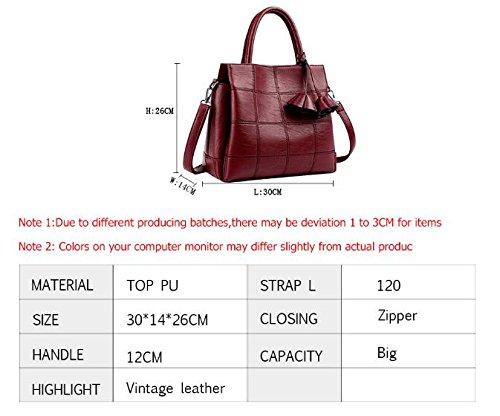 Sac Blue Bags 30x14x26 Red Ladies Women Rose Bag Plaid Leather Handbags Women Shoulder Brands Designer Female Famous 6OFEwqaE