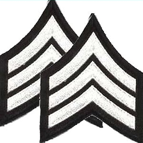 Sergeant Chevrons - Sew on - WHITE ON ()