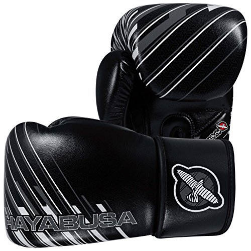 Hayabusa Ikusa Charged Gloves, Black/Grey, 16 oz