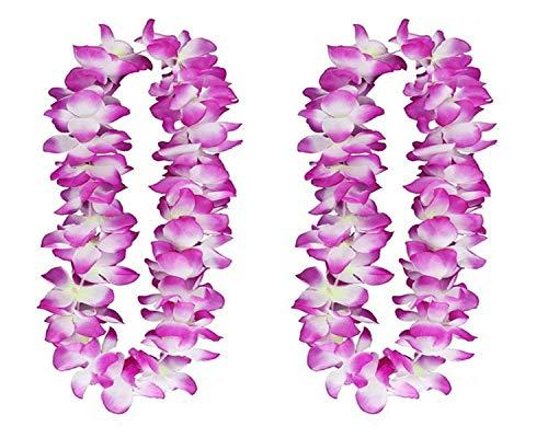 2PCS Purple Hawaiian Garland for Graduation celebration, Hawaiian
