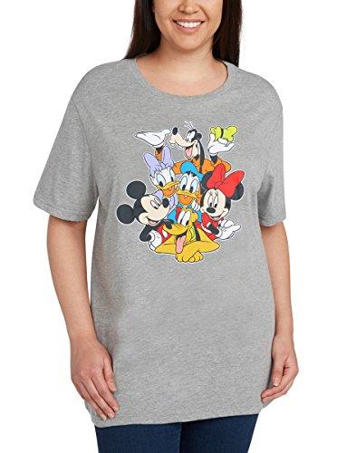 Disney Womens Plus Size T-Shirt Mickey Minnie Mouse Donald Daisy Goofy Pluto