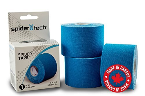 SpiderTech Kinesiology Sports Tape Roll Blue