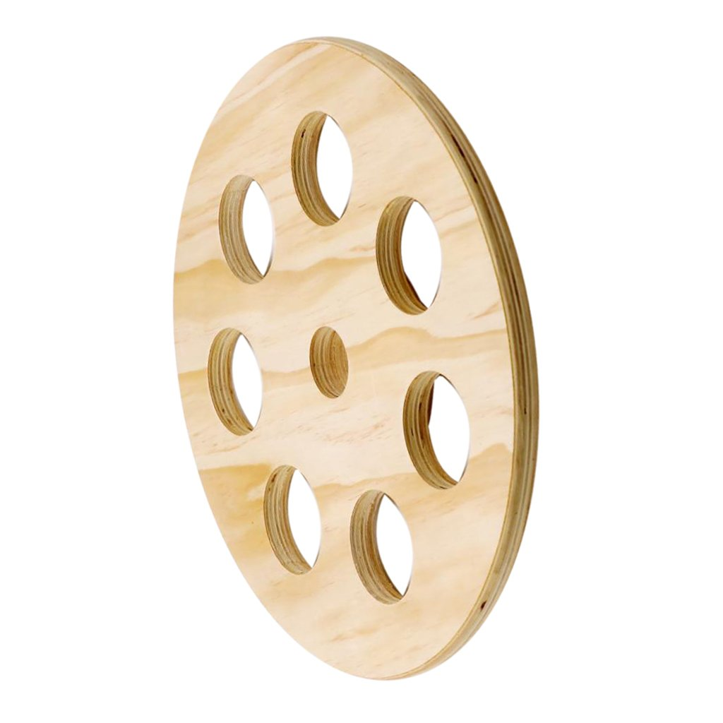 Baoblaze Wooden Weight Plate 7 Holes Plates Weightlifting Strength Training Equipment