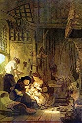 The Holy Family, by Rembrandt, 44x66-inch Canvas Giclée, Gallery Wrap, Museum Size