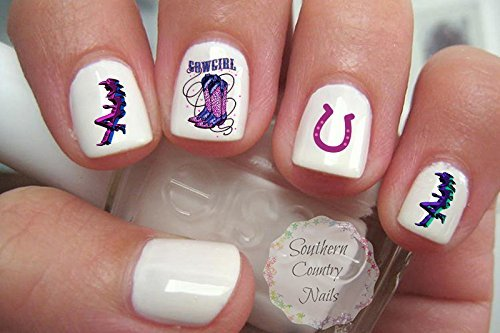 Cowgirls C101 Nail Art Decals - Amazon.com : Cowgirl Nail Art Decals : Beauty