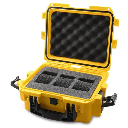 Invicta IG0097-SM1S-Y 3 Slot Yellow Plastic Watch Box Case (Plastic Case Watch)