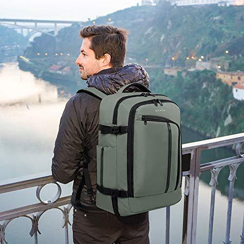 BANGE Travel Overnight Backpack,40-Liter FAA Flight Approved Weekender Bag Carry on Backpack