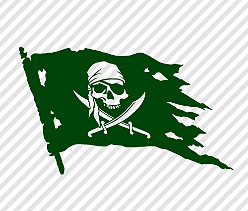 jolly roger car window decal - 8