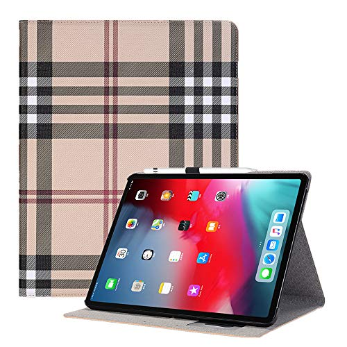 TechCode 11 inch New iPad Pro Case Cover, Screen Protector Luxury Book Style Folio Case Stand with Card Slots Holder Magnetic Smart Protective Cover for Apple iPad Pro 11 inch 2018 Release, Yellow