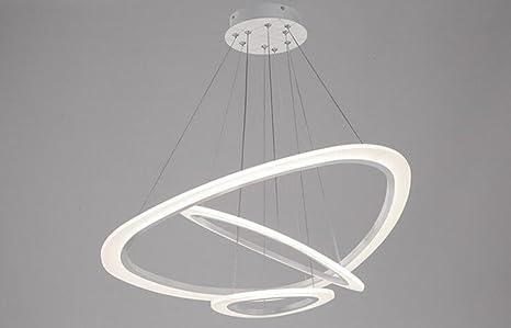 Fgsgz moderno lampadari toroidale acrilico lampade luci di camera