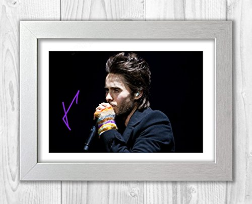 Engravia Digital Jared Leto Poster Signed Autograph Reproduction Photo A4 Print(White (Best Leto Digital Photo Frames)