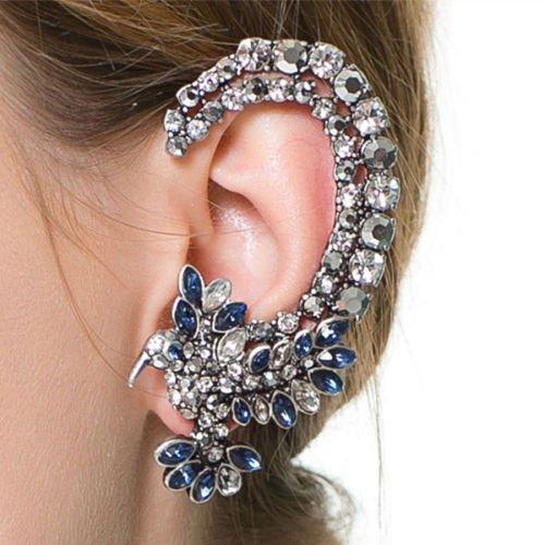 Trendy Acrylic Brincos Women Big Fashion Clip Earrings Ears Clips Ear Hook Stud#by pimchanok shop