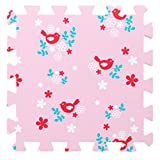 9 Pieces Of Crawling/Puzzle Foam Mats Kids&Baby Foam Play Mats-Pink