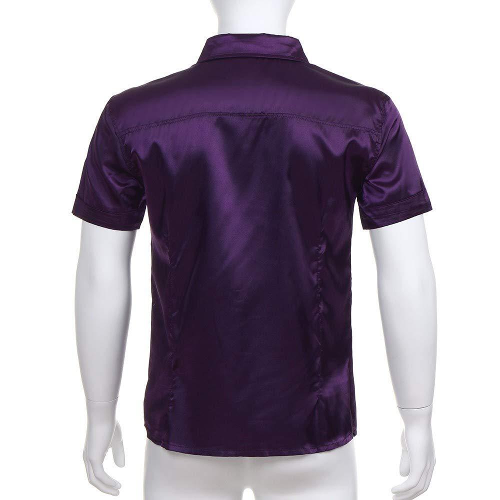 Blusa de hombre, BaZhaHei, Blusa ocasionales del verano de los hombres forman la blusa superior de la camisa del partido de la manga corta del Camisetas de ...