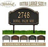 Personalized Cast Metal Address plaque - LAWN MOUNTED Williamsburg Estate Plaque. Display your address and street name. Custom house number sign.