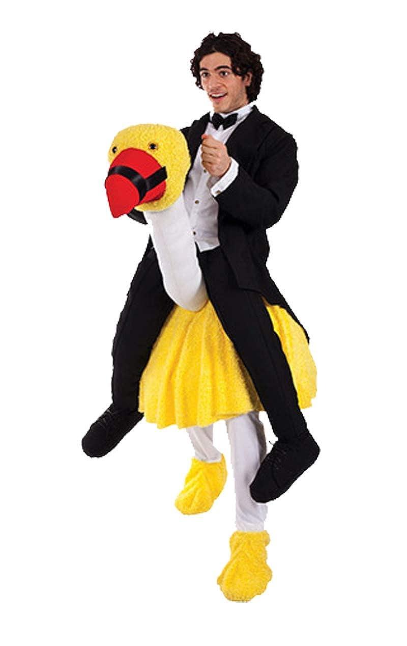 Orion Carry Me Retro Komiker Kostüm mit Vogel SchwarzWeißs-gelb Einheitsgröße