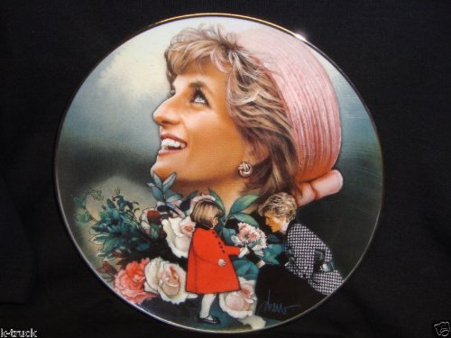 - Franklin Mint Collectible Plate -- Princess Diana --