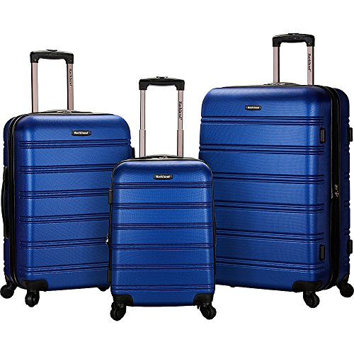 Rockland Luggage Melbourne 3 Piece Set, Blue