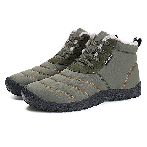 da Scarpe Fexkean Stivali Invernali Impermeabile DF 46 Caviglia Botas Neve Boots Verde 34 Sportive Piatto Stivaletti Donna Uomo prxtYp