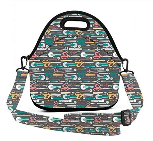 Quilters Weight - Lightweight Lunch Tote - Quilter's Sewing Notions - Durable Washable Non-Toxic Lunch Bag Boxes Gift for Men Women Kids Adults(Adjustable 3D Straps+Zipper Closure)