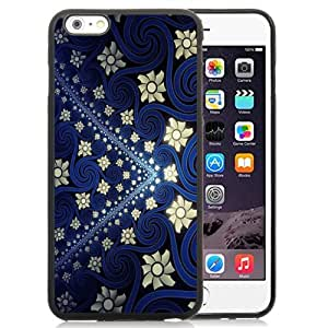 New Personalized Custom Designed For iPhone 6 Plus 5.5 Inch Phone Case For Blue Yellow Vintage Flowers Texture Phone Case Cover