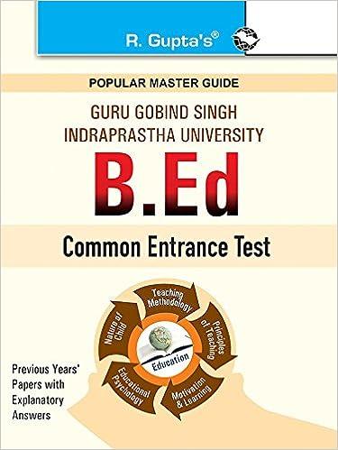 Buy GGSIPU: B Ed  Entrance Exam Guide (Popular Master Guide) Book