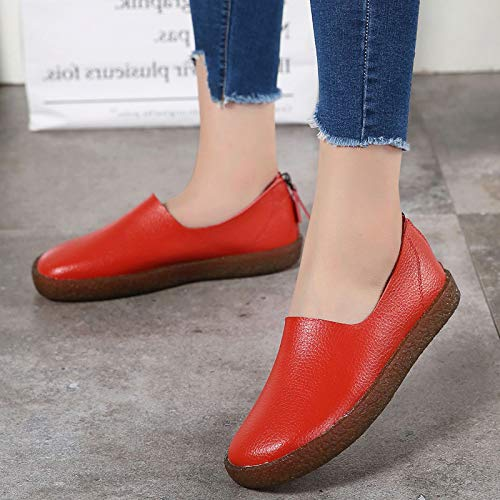 EU Zapatos 38 Blanco tamaño Rojo Color Qiusa WzUpqc78p