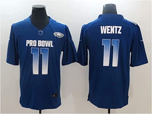 Philadelphia Eagles Legendary Player Jersey T-Shirt-2XL 190~196 SDFER All-Star 2019 Edition # 11carson Wentz Rugby-Trikot