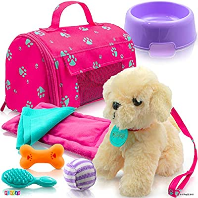 """Carrier Purse /& Dog for American Girl Doll Accessories Fit 18/"""" Dolls Pet SET"""