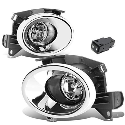 - For Nissan Pathfinder R52 Pair of Chrome Cover Clear Lens Bumper Driving Fog lights Lamps + Switch
